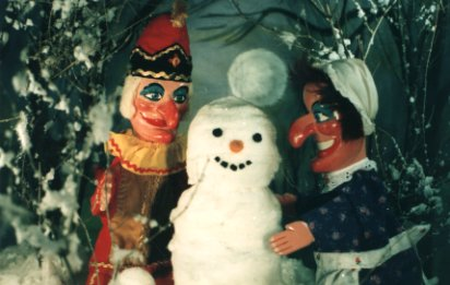 Punch and Judy with Snowman